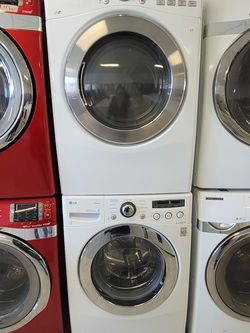 Lg Front Load Washer And Electric Dryer Mix And Match Set Used In Good Condition With 90day's Warranty for Sale in Mount Rainier,  MD