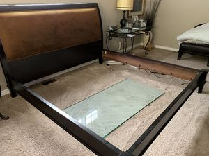 King size sleigh bed frame. for Sale in Los Angeles, CA