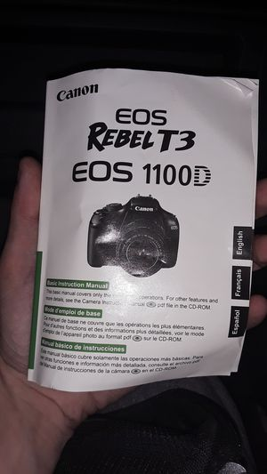 EOS Canon Rebel T3 1100D for Sale in Waterbury, CT