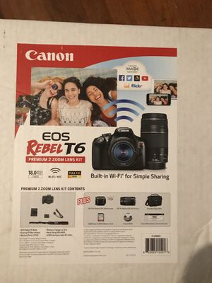 New Canon EOS Rebel T6 Double Zoom Kit for Sale in Charlotte, NC