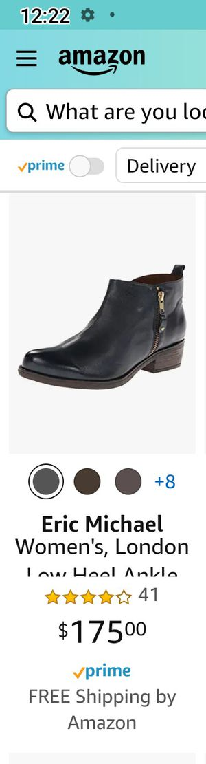 Eric Michael ankle boots leather used 9 1/2 for Sale in Los Angeles, CA