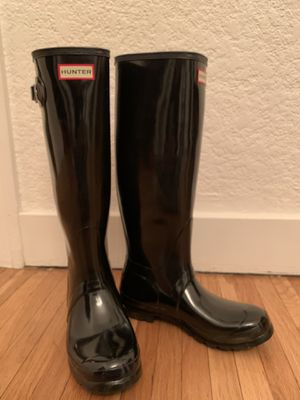 Hunter Tall Glossy Rain Boots 8 for Sale in Glendale, CA