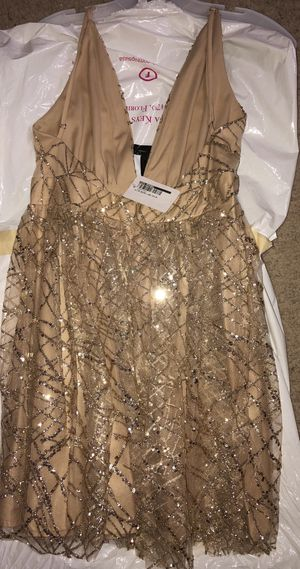 Boutique Gold Glitter abstract tutu dress for Sale in Pembroke Pines, FL