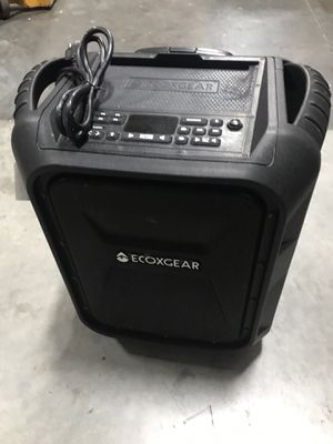 $70 USED in mint condition ECOXGEAR EcoBoulder Bluetooth waterproof camping outdoor beach speaker for Sale in El Monte, CA
