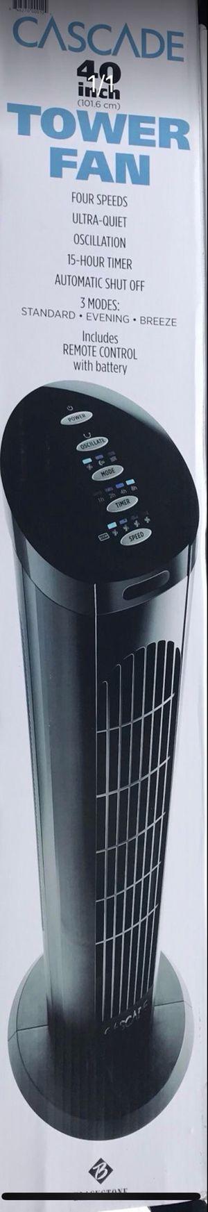 Cascade tower fan 40inch for Sale in San Diego, CA