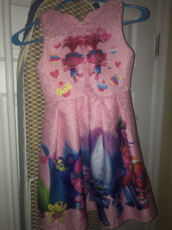 Poppy Trolls Dress (Little Girls)