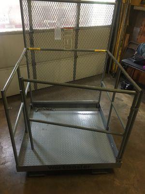 Used forklift safety cage platform lift basket aerial fence for Sale in Elgin, IL