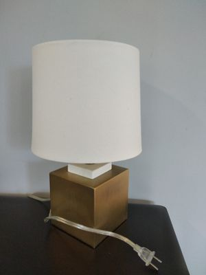 Lamp with cubic steel base for Sale in Somerville, MA