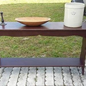 Tall Pine Console Table with Bottom Shelf . for Sale in Deltona, FL