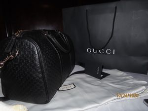 Authentic Gucci Boston Bag- Black Satchel for Sale in Baldwin Park, CA