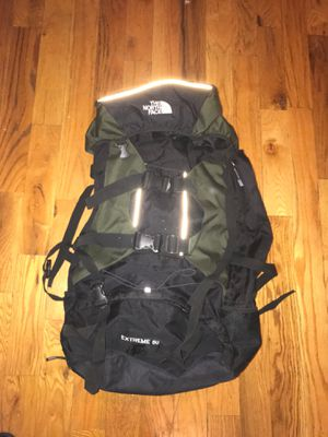 North face Extreme 80 gallon camping bag for Sale, used for sale  Queens, NY
