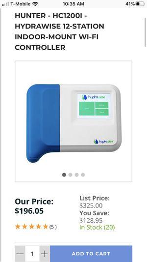 Hunter hydrawise 12 station sprinkler timer controller for Sale in San Antonio, TX