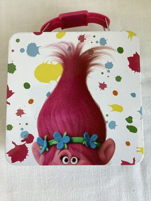 Trolls lunch box, Tin Box Co. Princess Poppies, Dreamworks 2016 Tin carry all for Sale in AZ, US