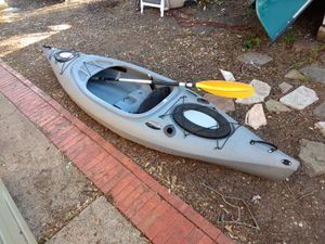 Trophy 126 Future Beach Angler Fishing Kayak w/ Paddle (10.5 Feet Long) for Sale in Garland, TX