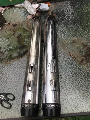 Rinehart dual exhaust pipes for Harley Davidson motorcycle for Sale in New Haven, CT