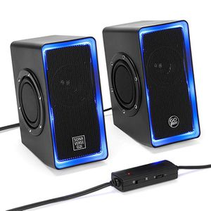 "Desktop Speakers for Laptop Computer (Black with LEDs) SonaVERSE O2i Gaming Computer Speakers USB Powered with AUX Input, Blue LED Lights, Dual 2.5"" for Sale in City of Industry, CA"