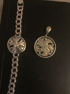 Men. Silver. Charm. And. Bracelet for Sale in Detroit, MI