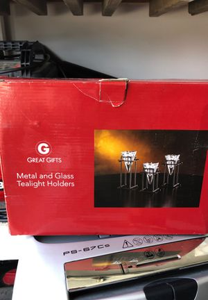 Great Gifts- Metal and glass tea light holders for Sale in Simi Valley, CA