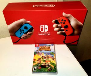 NINTENDO SWITCH GRAY OR NEON B/R V2 BRAND NEW WITH ANIMAL CROSSING NEW HORIZONS BRAND NEW SEALED for Sale in Escondido, CA