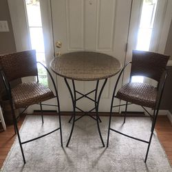 Pier 1 Bistro Table & Two Chairs for Sale in Frederick,  MD