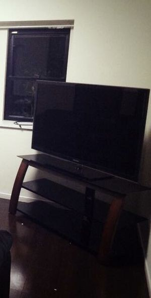 Wood & Glass Tv Stand for Sale in San Diego, CA
