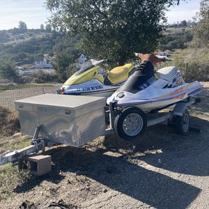 2 Jet Skis And A Trailor (Discounted For Purchase Before February 2021) for Sale in Arroyo Grande, CA