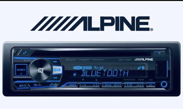 ALPINE CDE-175BT CD Receiver w Bluetooth Single DIN IN DASH CD/AM/FM/DIGITAL MEDIA CAR STEREO