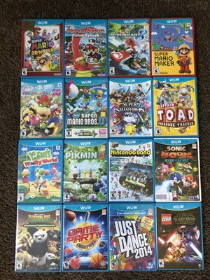 Nintendo Wii U / 16 Games / controllers for Sale in Cleveland, OH