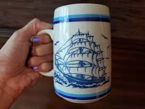 VINTAGE CAPTAINS TALL SHIP 14oz COFFEE MUG CUP SAILORS BOAT STEIN FISHERMANS for Sale in Chandler, AZ