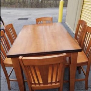 Heavy/solid Table With 8 Chairs for Sale in Raleigh, NC