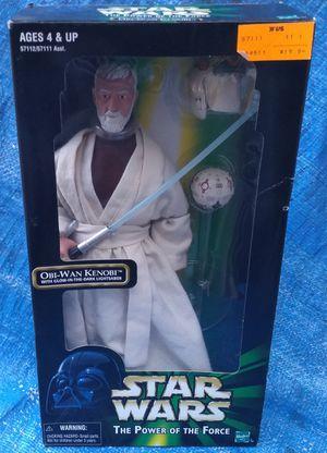 "1998 Star Wars 12"" Obi Wan Kenobi Action Figure MIP MIB Power Of The Force Hasbro for Sale in Pasadena, CA"