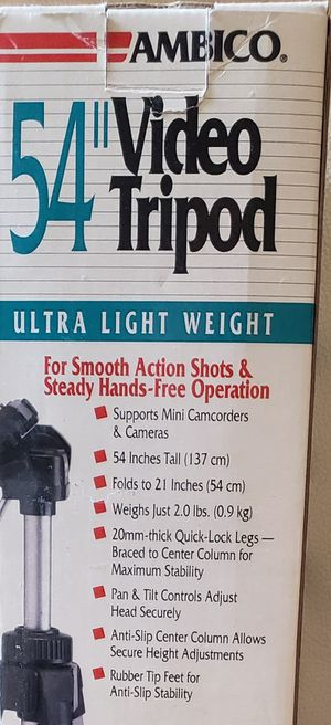 BRAND NEW AMBICO CAMCORDER CAMERA VIDEO TRIPOD for Sale in Thornton, CO