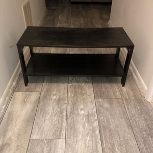 Used black wooden tv stand good condition for Sale in North Potomac, MD