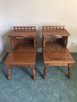 Two end maple tables for Sale in Selma, CA