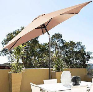 New in box $45 each Outdoor 10' FT Patio Umbrella Garden Table Market Beach w/ Tilt Crank for Sale in Whittier, CA