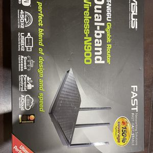 ASUS N900 Gigabit RT-N66U Router And NetGear AC1200 WiFi Range Extender EX6200 for Sale in Kirkland, WA