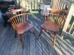 Pair of Vintage Ethan Allen Wood Chairs | Great Condition for Sale in Washington, DC