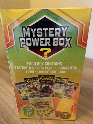Pokemon Mystery Power Box Sealed - Vintage Booster Chance? 2020 for Sale in Elk Grove, CA