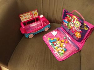 Almost 50 Shopkins, truck and carrying case for Sale in Ashburn, VA