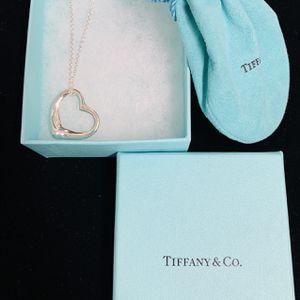 Tiffany & Co. Elsa Peretti heart necklace pendant 925 silver for Sale in Orange, CA
