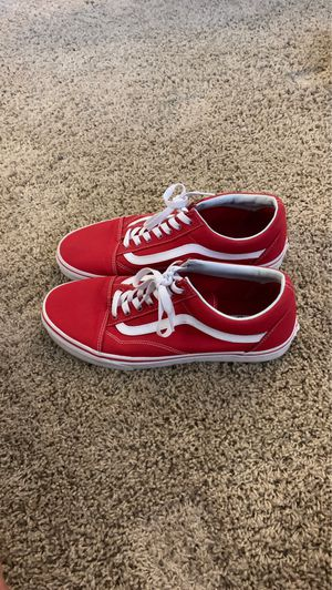 Brand new old school all red vans size 10.5 for Sale in Oceanside, CA
