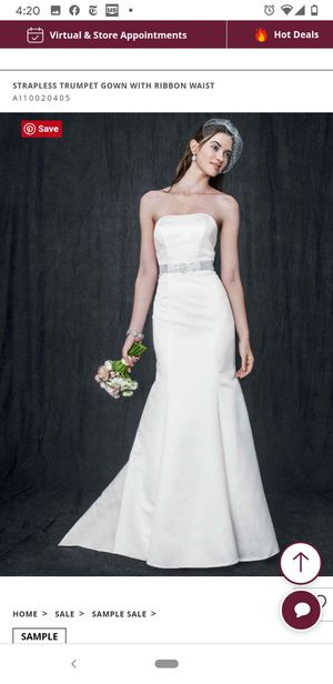 Wedding Dress NEW, Strapless, Ivory, size 12 for Sale in Henderson, NV