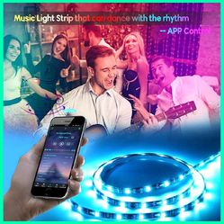 🚥NEW USB POWERED RGB LED STRIP 16 FEET/5M💥 BLUETOOTH APP CONTROL. PLUG& PLAY! CEILINGS/ GAME ROOM/ COMPUTER/ UNDER BED/ CLOSET LIGHT🚥 for Sale in Ontario,  CA
