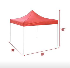 "10x10"" pop up tent New in BOX / BLACK / WHITE / BLUE /RED for Sale in Chino, CA"