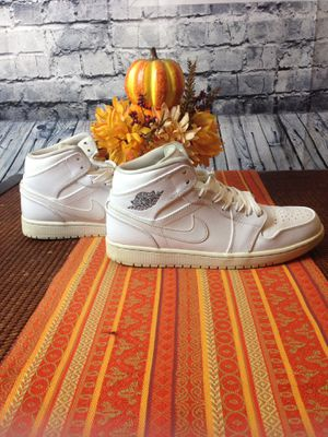 Air Jordan 1 Mid White Nike shoes Men 10.5 for Sale in Eno Valley, NC