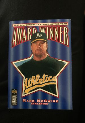 Free mcgwire baseball card for Sale in El Paso, TX