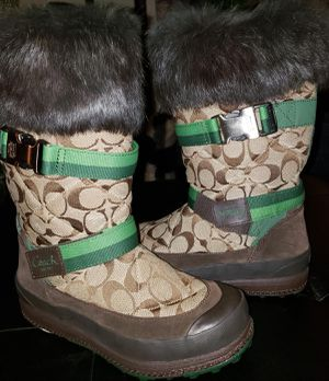 Coach Womens Rabbit Fur Boots for Sale in West Linn, OR