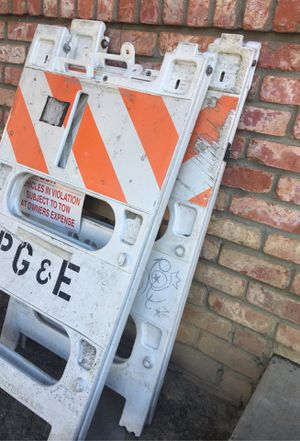 Two caution signs (ex pg&e signs) for Sale in San Jose, CA