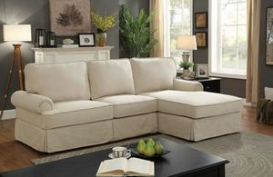 Beige sofa sectional couch/Yes We Finance 😁 Message To Apply Today / No Credit Needed - Order Today! for Sale in Downey, CA