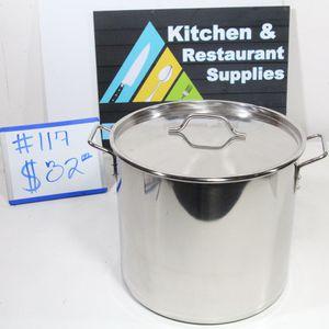 #117 40QT STAINLESS STEEL STEAMER POT KITCHEN RESTAURANT SUPPLIES SALE for Sale in Garden Grove, CA